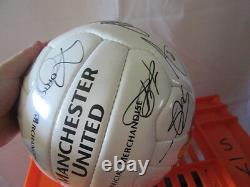 Manchester United 2005-2006 Squad Signed Football with club COA Rooney