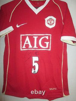 Manchester United 2006-2007 Rio Ferdinand Signed Home Football Shirt COA /33039