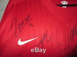 Manchester United 2008-2009 Squad Signed Home Football Shirt with our COA /21799