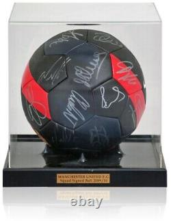 Manchester United 2009/10 League Cup Winning Squad Hand Signed Football Club COA