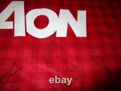 Manchester United 2012/13 Signed Jersey Unframed + Photo Proof & C. O. A