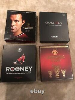 Manchester United 4 Box Sets Signed Rooney Giggs 2008 19 Shirt Commemorative Box