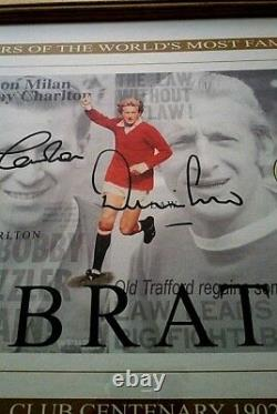 Manchester United Beckham Cantona Best Charlton Law Signed 100 Yrs