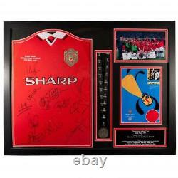 Manchester United FC 1999 Champions League Final Signed Shirt (Framed) Official