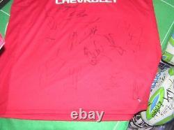 Manchester United FC 2017/18 Season Squad Signed Shirt de Gea Mata Shaw Lukaku