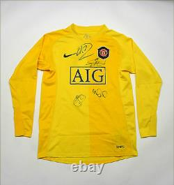 Manchester United GK Jersey Shirt Signed Van Der Sar Ronaldo Carric Solkjaer