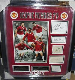 Manchester United Iconic Number 7's Signed Montage Aftal