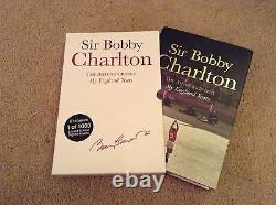 Manchester United Legend Bobby Charlton SIGNED Book Slip Case Only 1000 copies