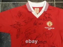 Manchester United Legends Signed Football Shirt Coa X 29 Wilkins Robson Bruce Et