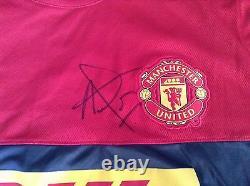 Manchester United MUFC Man Utd DHL Training Shirt SIGNED by LOUIS VAN GAAL