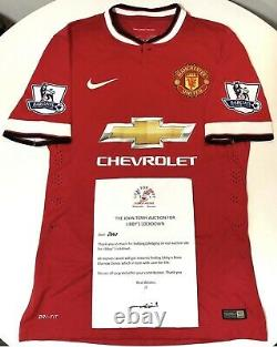Manchester United Match Worn & Signed 2014-15 Home Shirt By Falcao #9 With COA