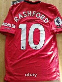 Manchester United Number 10 Shirt Signed By Marcus Rashford With Guarantee