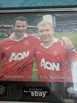 Manchester United Ryan giggs and Paul scholes signed limited edition picture