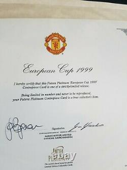 Manchester United Signed 1999 European Cup Winning Folder Rare