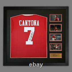Manchester United Signed Eric Cantona Shirt 5 Only LeftSUPERB ITEM @ Only £275