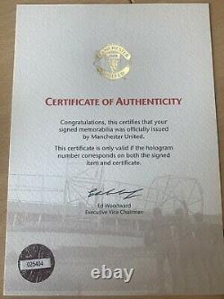 Manchester United Signed Football 2009-10 Season COA Included
