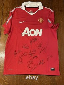 Manchester United Signed Shirt 2010/11 Champions, Official Club Certification