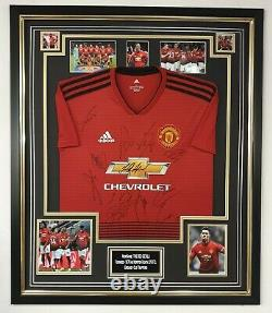 Manchester United Signed Shirt Autographed Jersey Display AFTAL DEALER