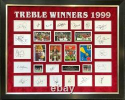 Manchester United Treble Winners 1999 Signed By Complete Squad And Sir Alex Ferg