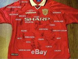 Manchester United Treble Winners 99 Squad Signed Football Shirt Jersey With COA