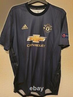 Manchester United Utd Hand signed LUKAKU Match Worn / Issue European Shirt