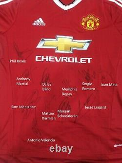 Manchester United multi signed autograph shirt Adidas jersey with COA
