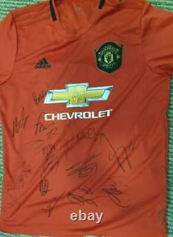 Manchester United signed 2019/20 shirt 17 signatures De Gea Solskjaer Lingard