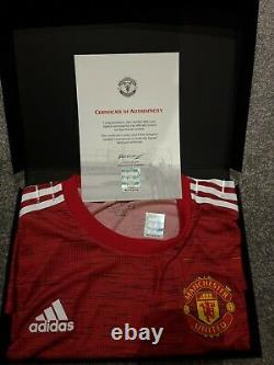 Manchester united signed shirt 20-21 with COA