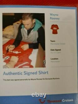 Manchester united wayne rooney signed shirt 2011 certicate of authentication