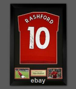 Marcus Rashford Hand Signed Manchester United Football Shirt In A Framed Display