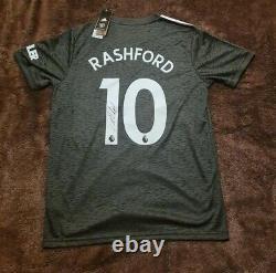 Marcus Rashford Manchester United Number 10 20/21 Away Man Utd Shirt Hand Signed