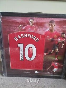 Marcus Rashford Signed Manchester United Football Shirt In A Frame Display
