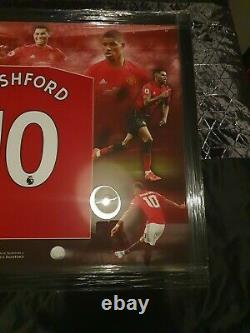 Marcus Rashford Signed Manchester United Football Shirt In A Frame Display