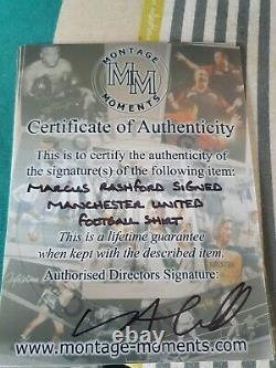 Marcus Rashford Signed Manchester United Football Shirt In A Frame Display wcoa
