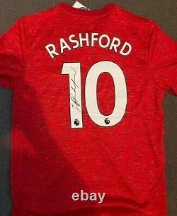Marcus Rashford Signed Shirt Manchester United