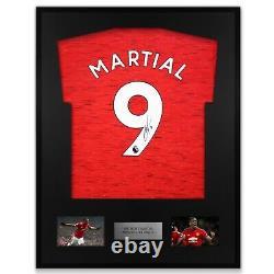 Martial Signed Manchester United Shirt Framed Display Man Utd COA Red Adidas