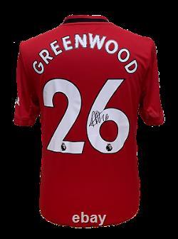 Mason Greenwood Signed Manchester United 201920 Football Shirt See Proof Coa