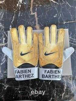 Match Worn Manchester United BARTHEZ SIgned Gloves Nike