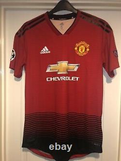 Match Worn Manchester United Champions League 2019 Martial Signed Home Shirt