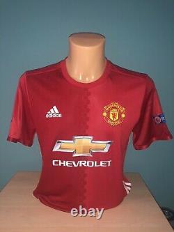 Match Worn Manchester United Europa League Signed Shirt Ander Herrara 2017