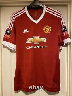 Match Worn Manchester United FA Cup Red Adidas shirt 2016 Fellaini Signed