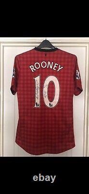 Match Worn Manchester United Wayne Rooney Signed Unwashed 2012/13 Home Shirt