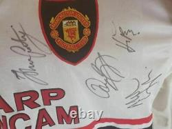 Nicky Butt Match Worn Manchester United Squad Signed 97/99 Shirt