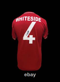 Norman Whiteside Signed Manchester United 1985 Football Shirt Coa & Proof