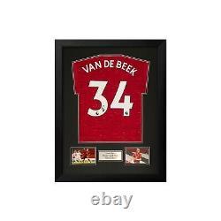 OFFER! Donny van de Beek Hand Signed Manchester United 20-21 Home Shirt With COA