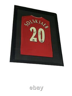 Ole Gunnar Solskjaer signed Manchester United shirt framed