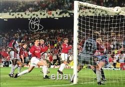 Ole Solskjaer Signed Manchester United Champions League 1999 Photo Coa & Proof