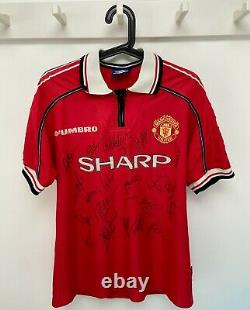 Original MANCHESTER UNITED Football club 1999 Treble Championship signed shirt