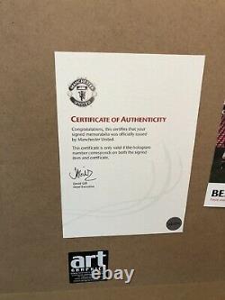 PAUL SCHOLES MANCHESTER UNITED SIGNED SHIRT, FRAMED Official Man Utd CoA