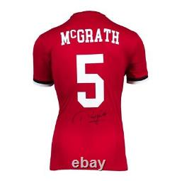 Paul McGrath Signed Manchester United Shirt Number 5 Autograph Jersey